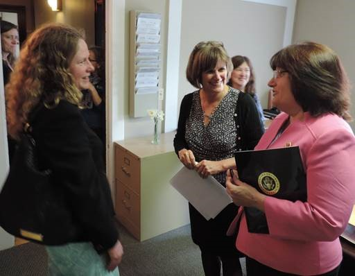 Congresswoman Kuster meeting at larc's offices